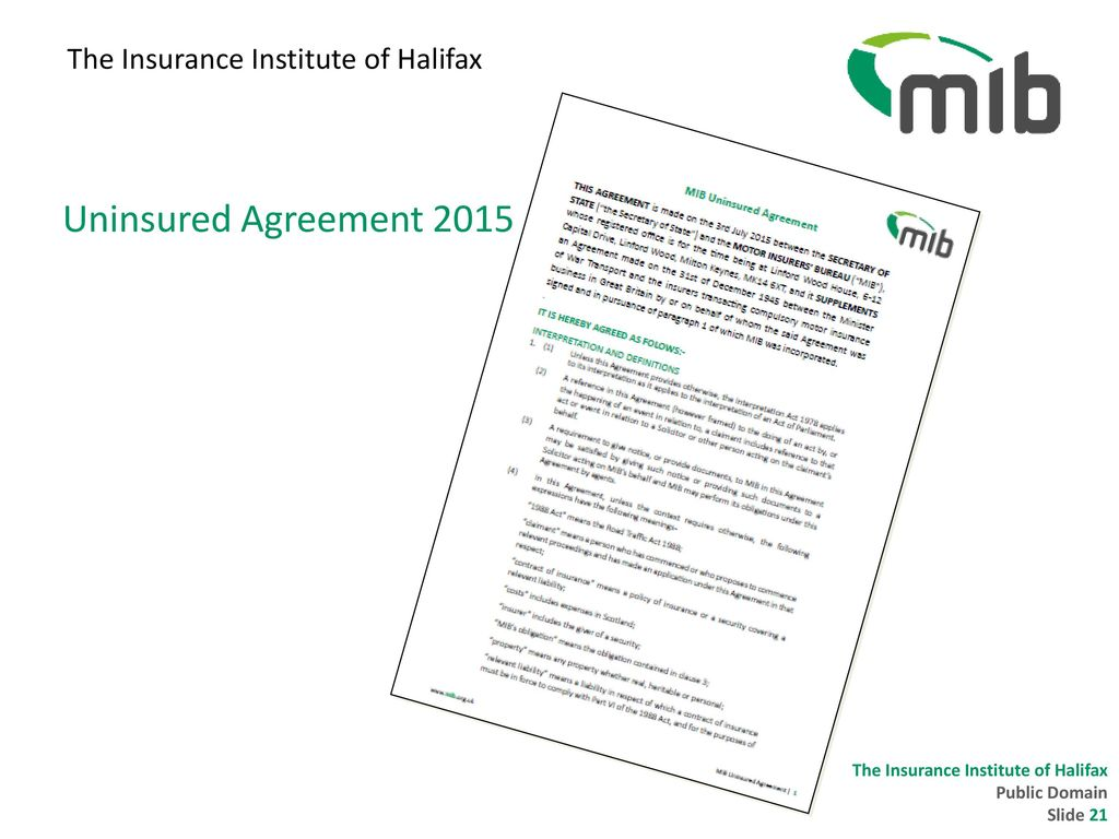 The Insurance Institute Of Halifax 18 October Ppt Download