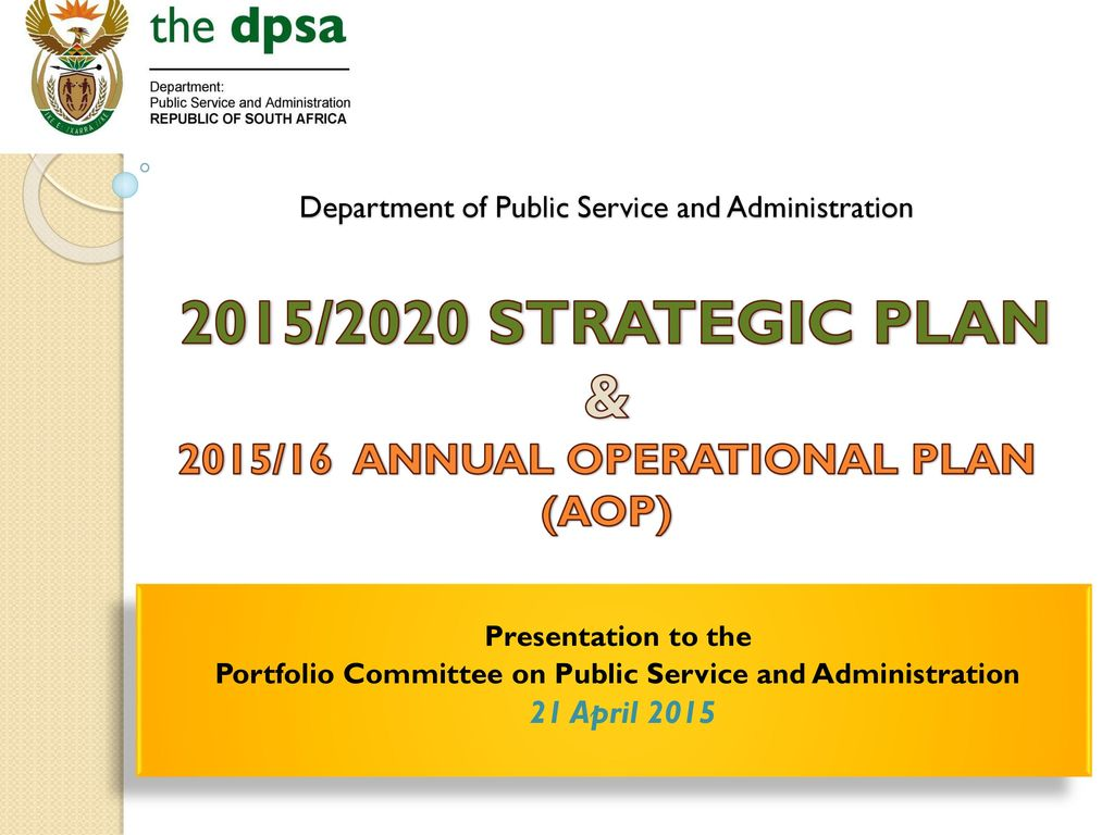 Portfolio Committee on Public Service and Administration