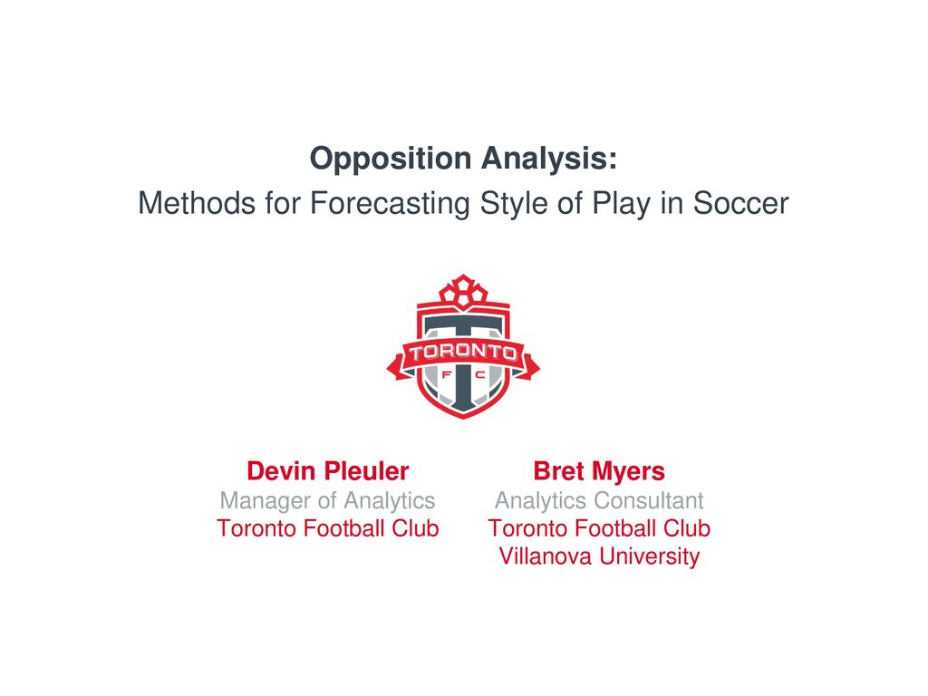 Methods for Forecasting Style of Play in Soccer