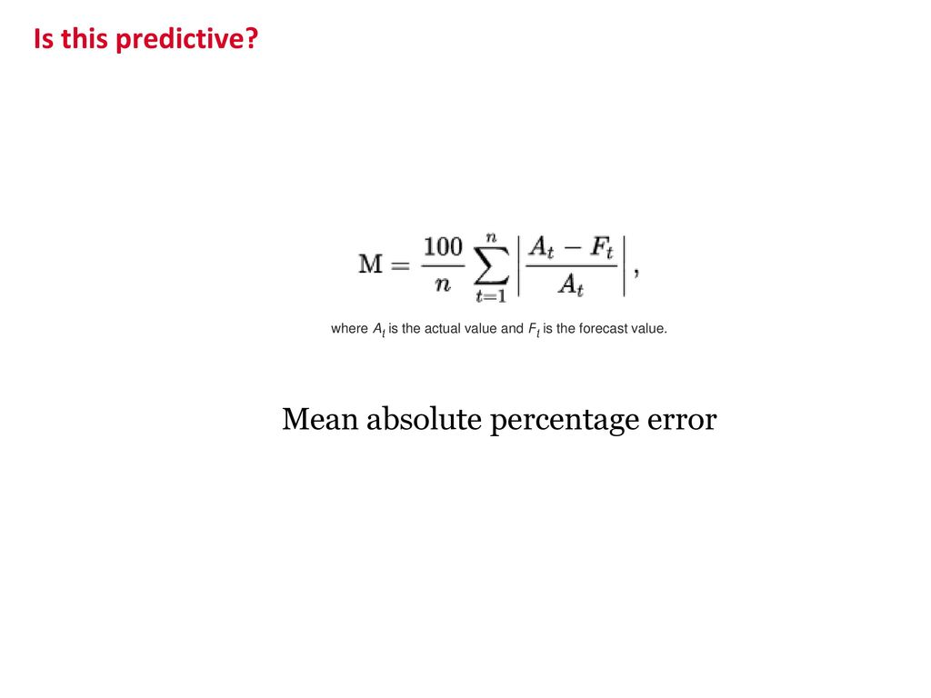 Mean absolute percentage error