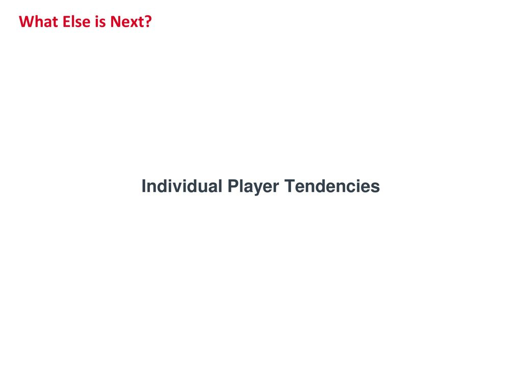Individual Player Tendencies