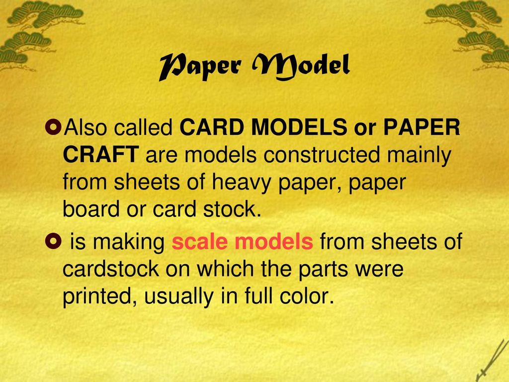 Paper Model  - ppt download