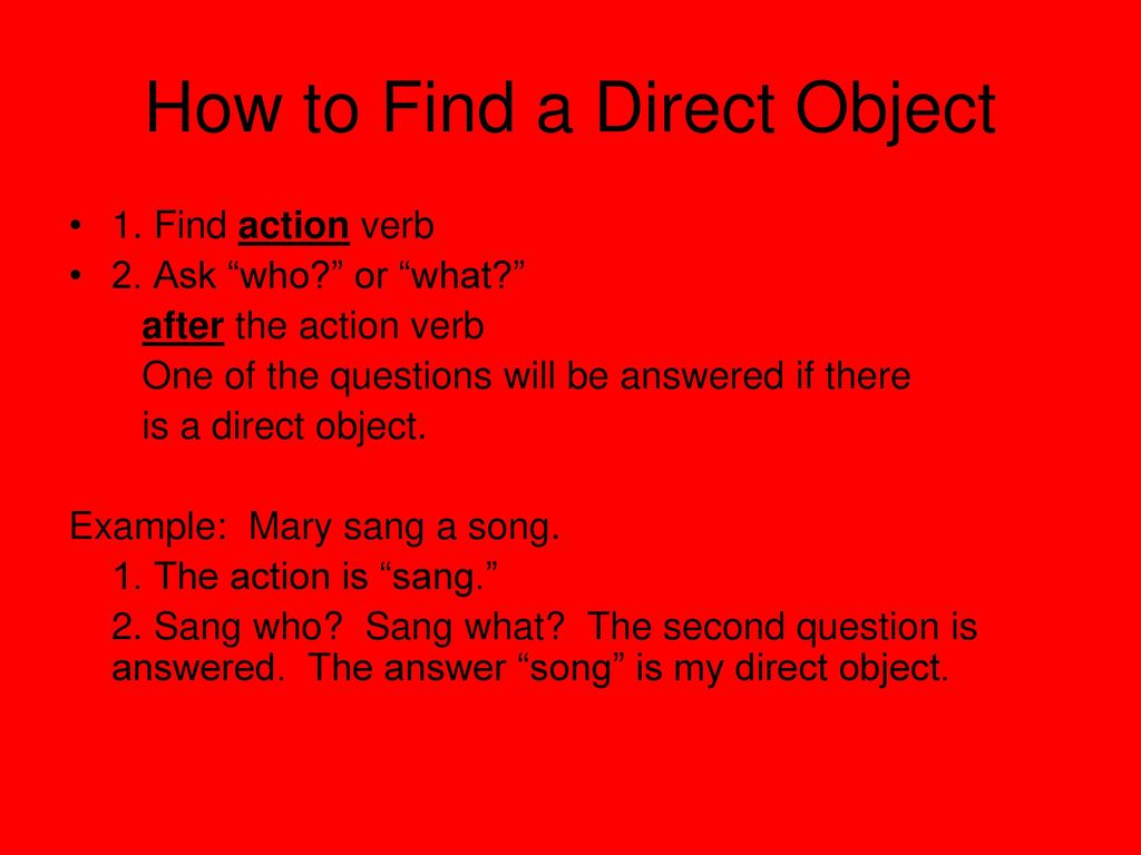 images How to Find a Direct Object