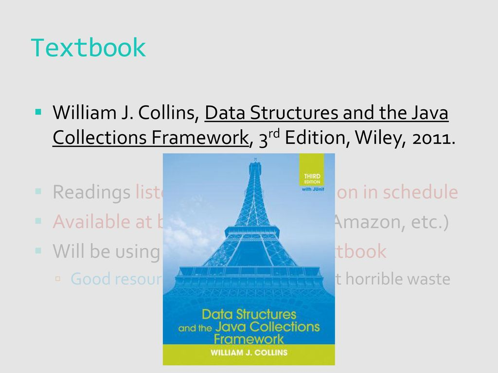Data structures and the java collections framework 3rd edition.