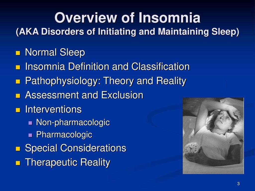 insomnia overview james j - ppt download