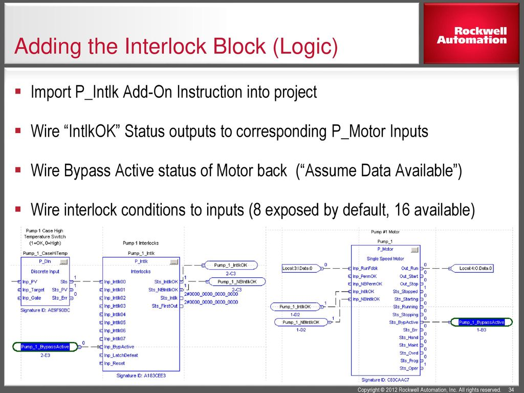 Using The Plantpax Library Of Process Objects Ppt Download Logic Diagram Interlock Adding Block