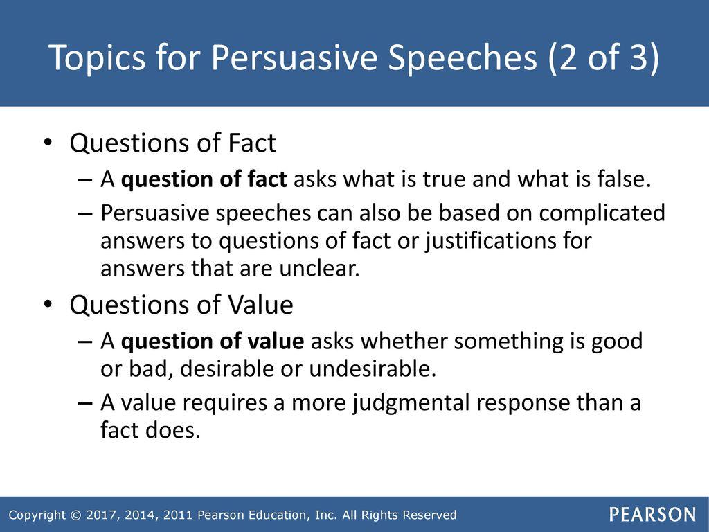 question of value speech