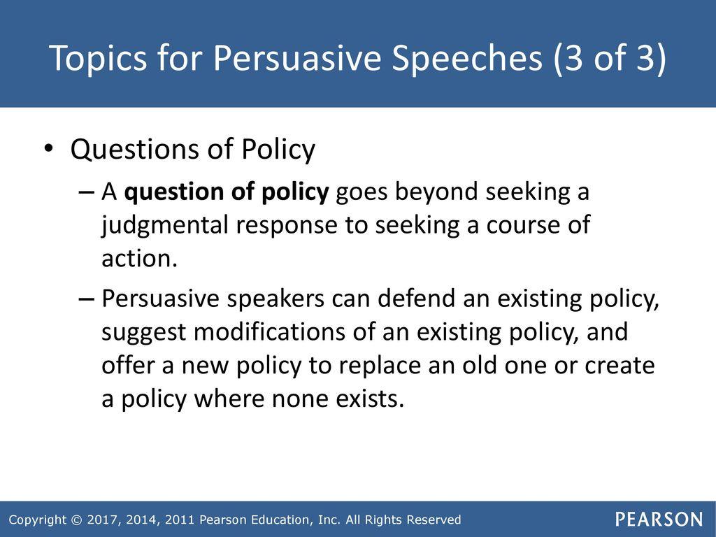 persuasive policy topics