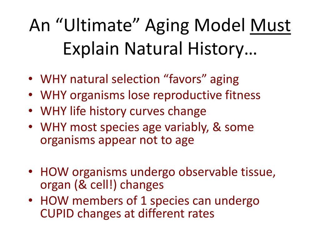 aging a natural history