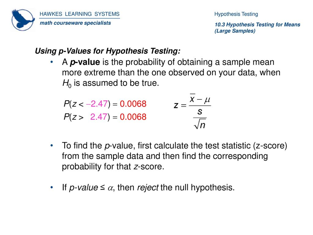 Hypothesis Testing For Means Large Samples Ppt Download Plz5 Smpale 5 If