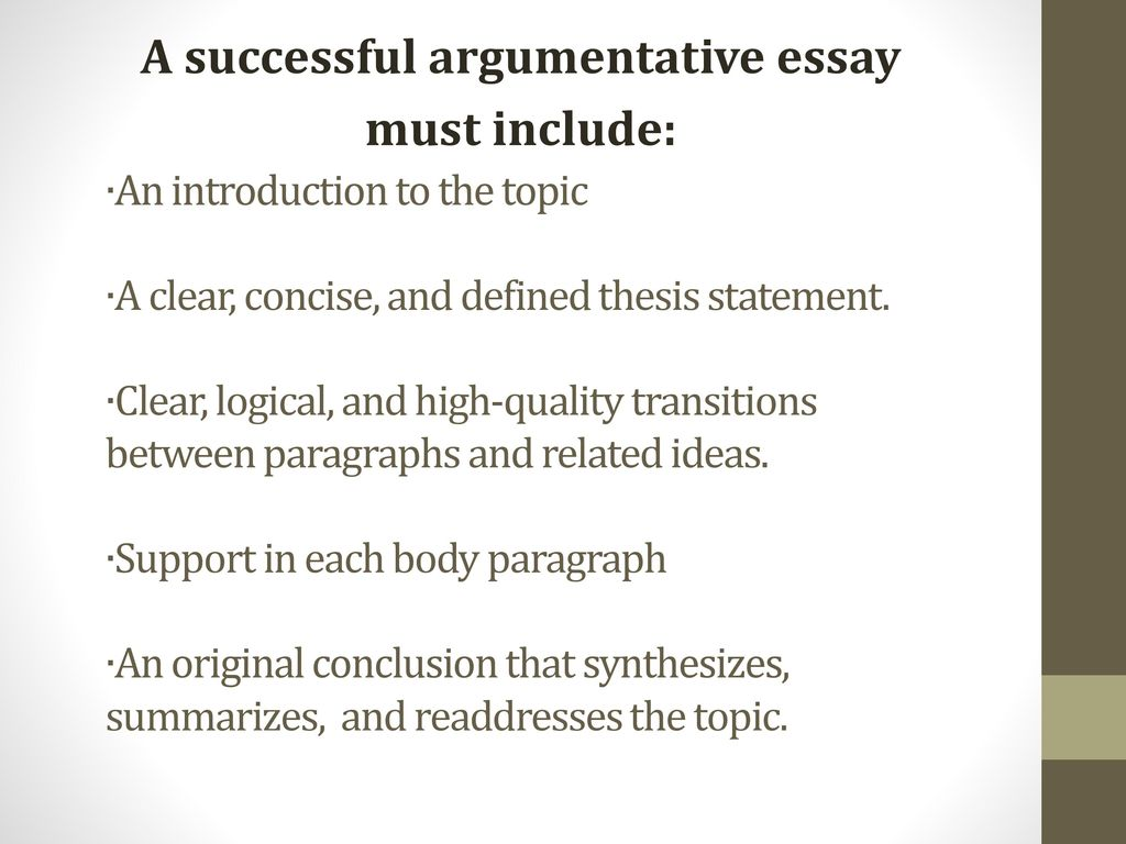Writing Thesis Statements for Argumentative Essays