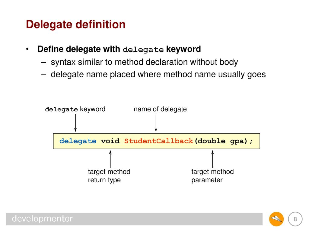 delegates and events 14: delegates and events - ppt download
