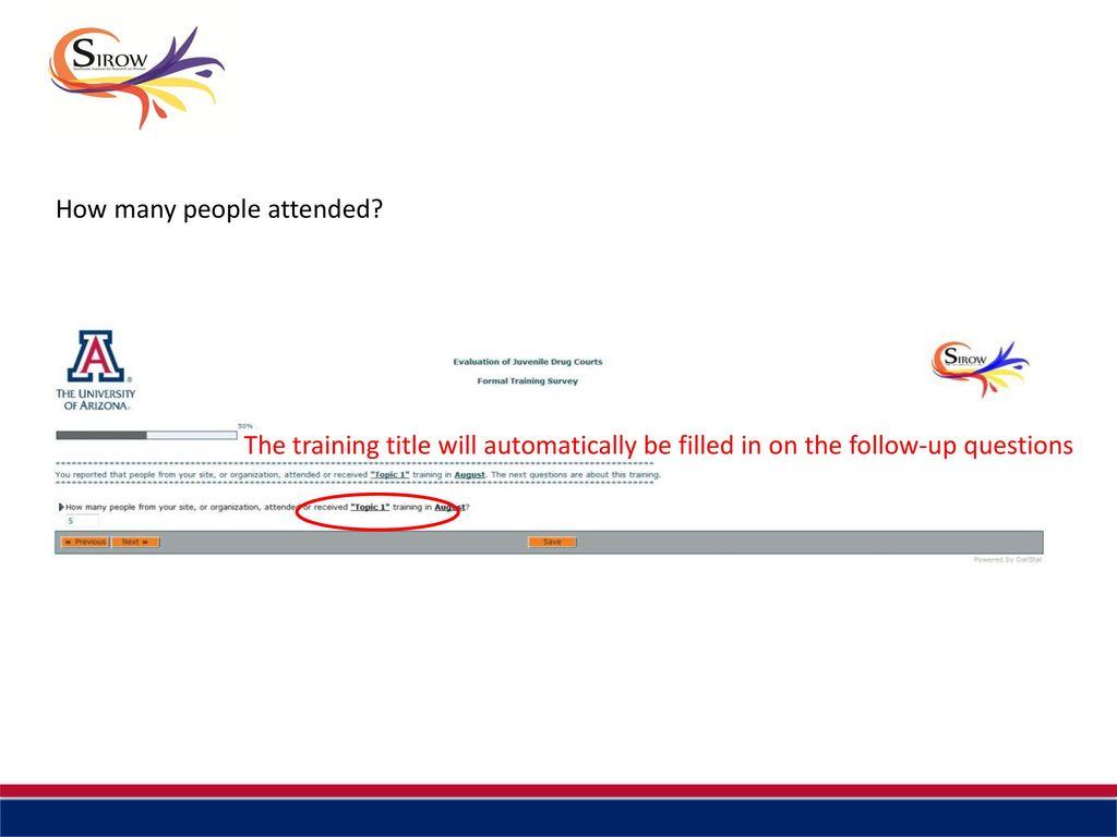 Formal Training Survey Tutorial - ppt download