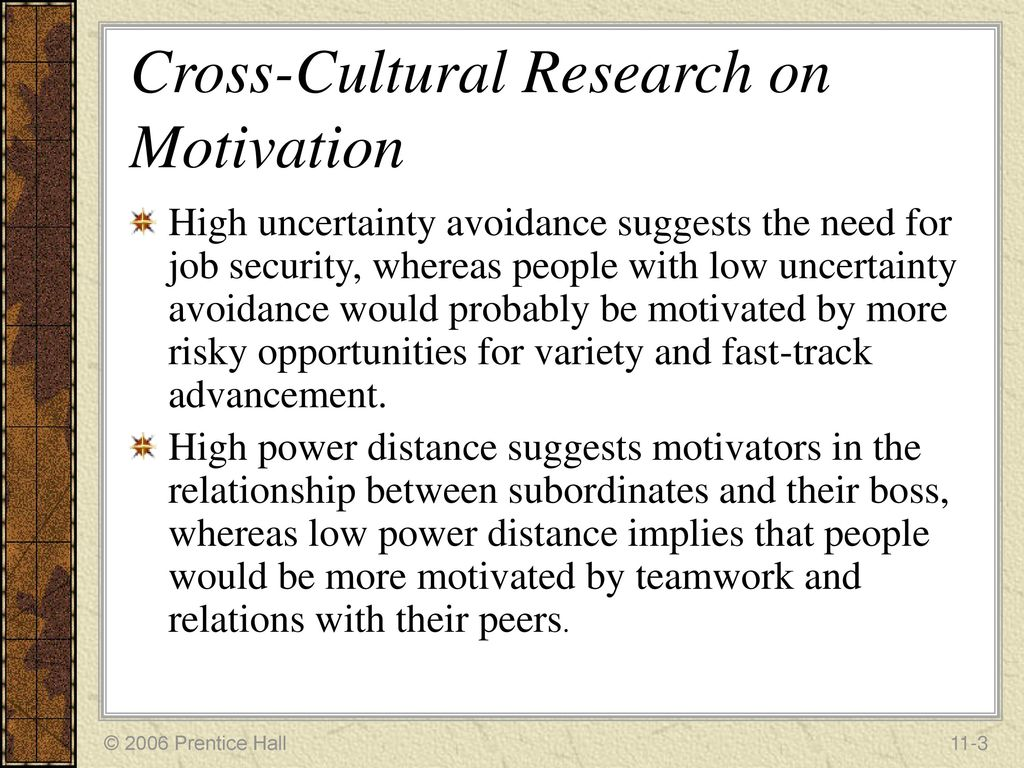 describe the cultural differences in motivation.
