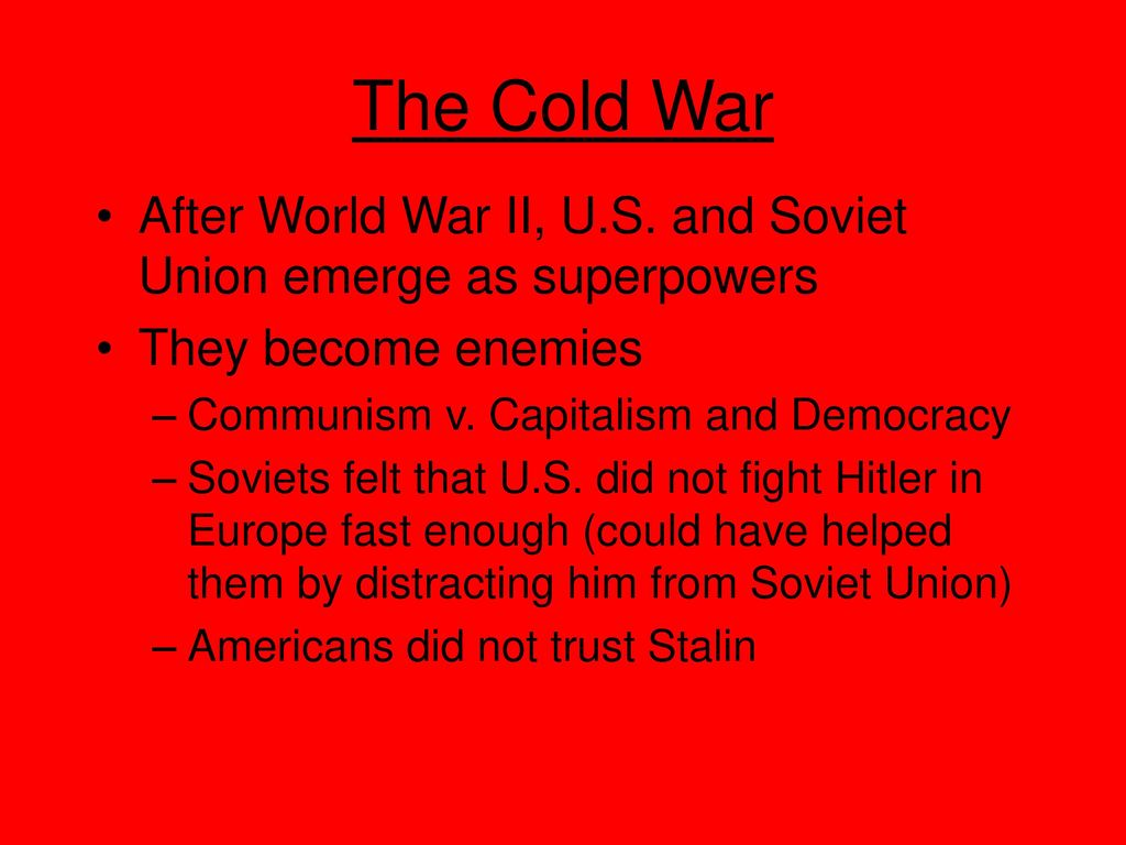 How Did The Cold War Begin And Develop Ppt Download