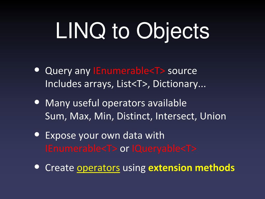 Language Integrated Query: (LINQ) An introduction - ppt download