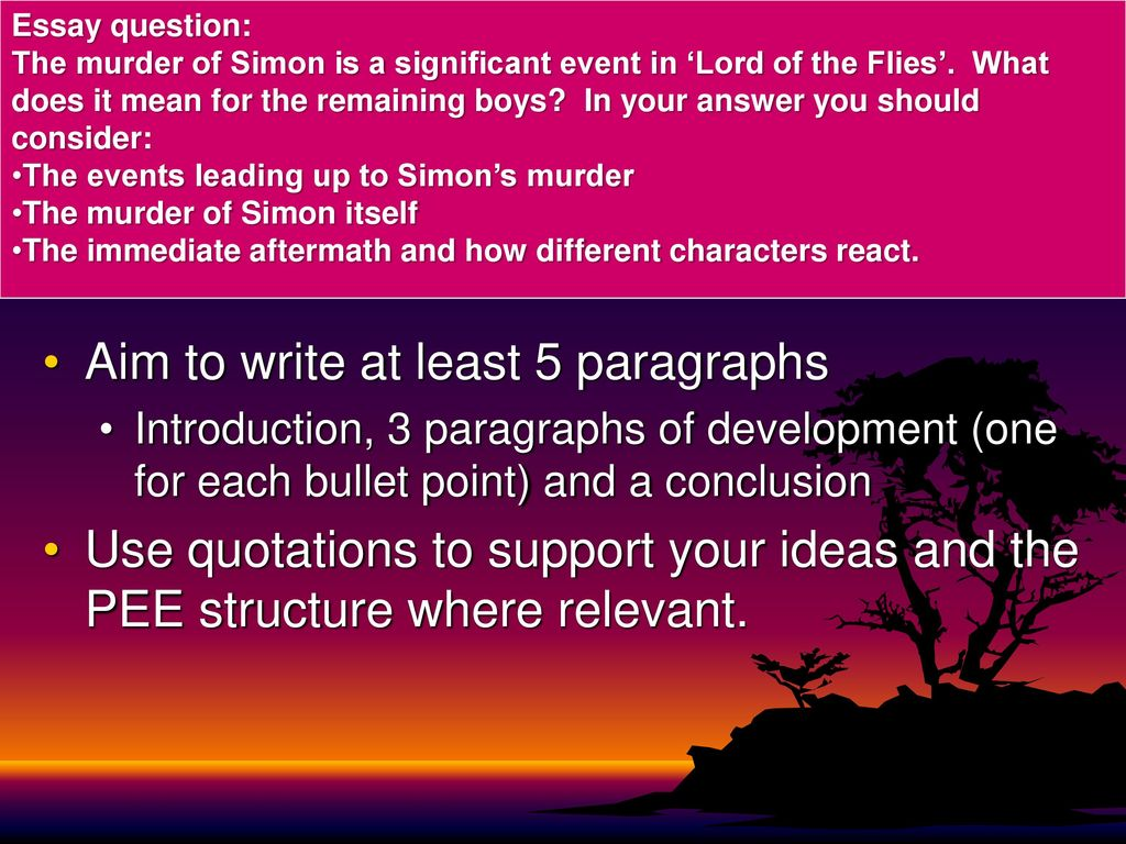 lord of the flies essay examples