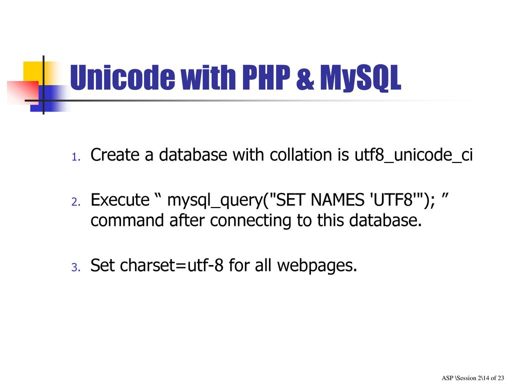 Session 4 PHP & MySQL  - ppt download