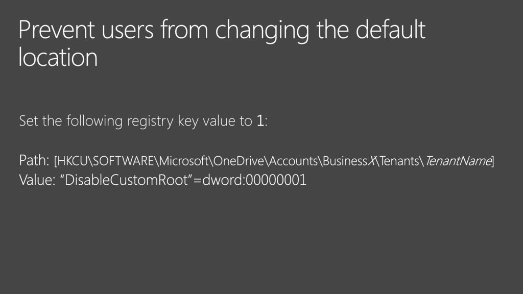 Optimizing Microsoft OneDrive for the enterprise - ppt download