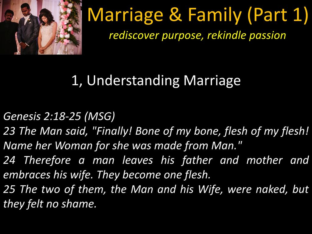Marriage & Family Part ppt download