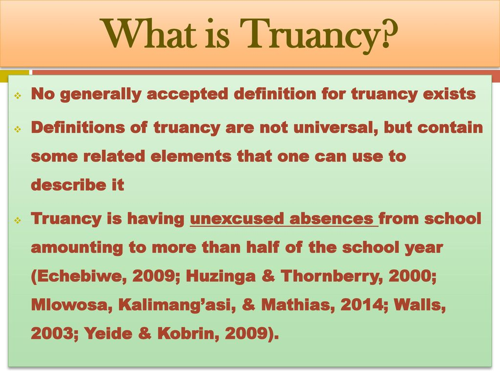 the role of politics in secondary school truancy - ppt download