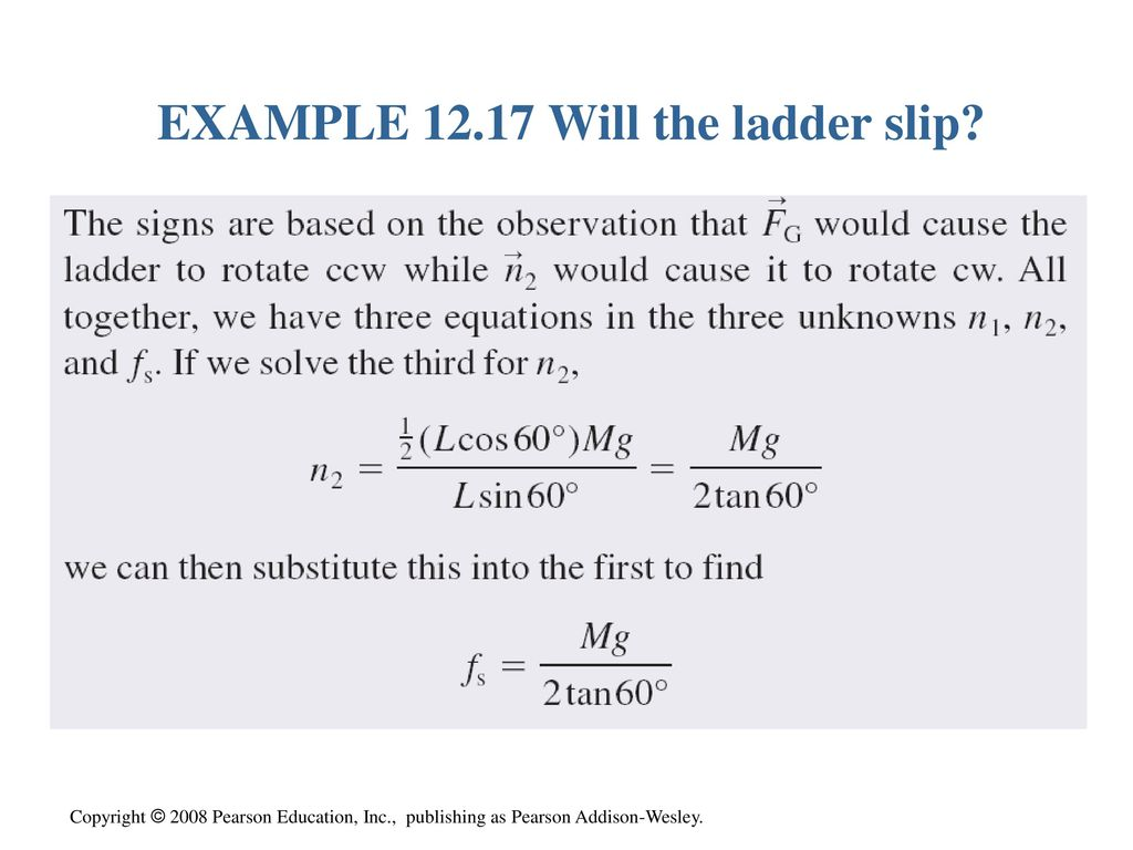 Chapter 12 Rotation Of A Rigid Body Ppt Download Ladder Free Diagram Rotated To Horizontal Position 26 Example