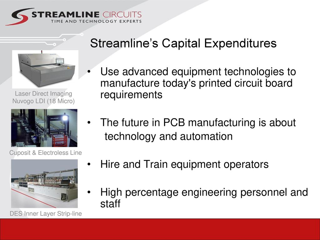 Your Technology Experts Ppt Download Printed Circuit Board Supply Domestic And Offshore 17 Streamlines Capital Expenditures Use Advanced Equipment Technologies To Manufacture Todays