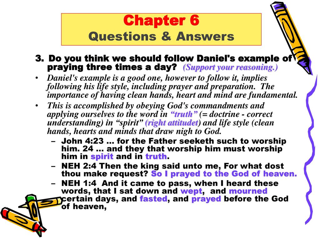 Daniel chapter 6 Question and Answers  - ppt download