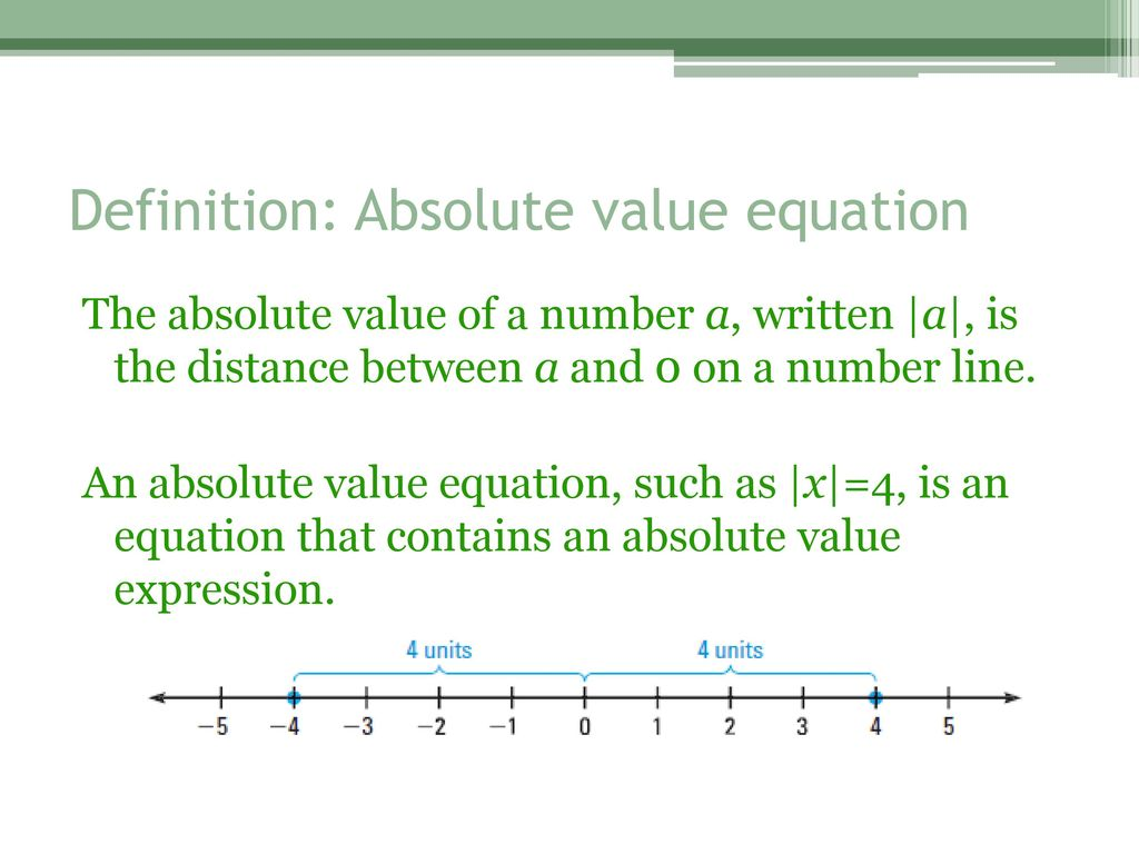Absolute Value Equation Definition