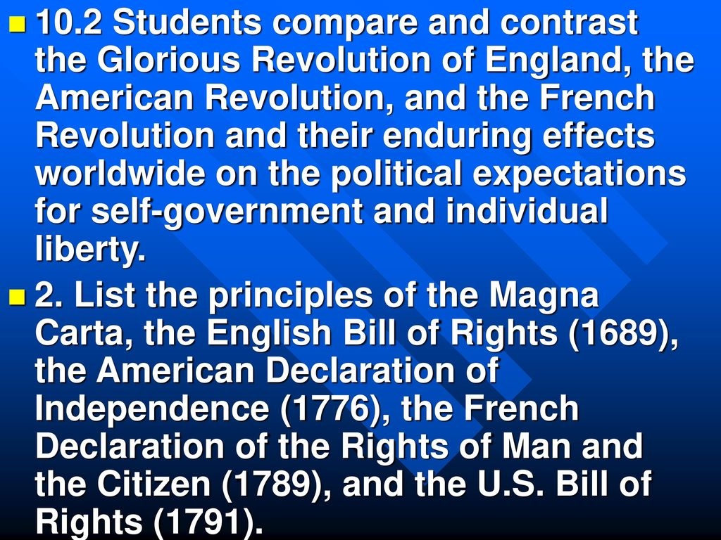 Compare and contrast the american declaration of independence 102 students compare and contrast the glorious revolution of england the american revolution and ccuart Images