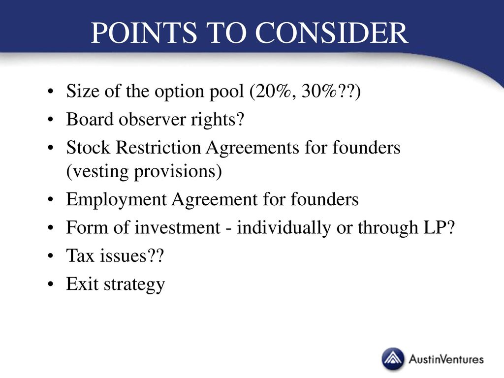 Venture Capital Deal Structure Ppt Download