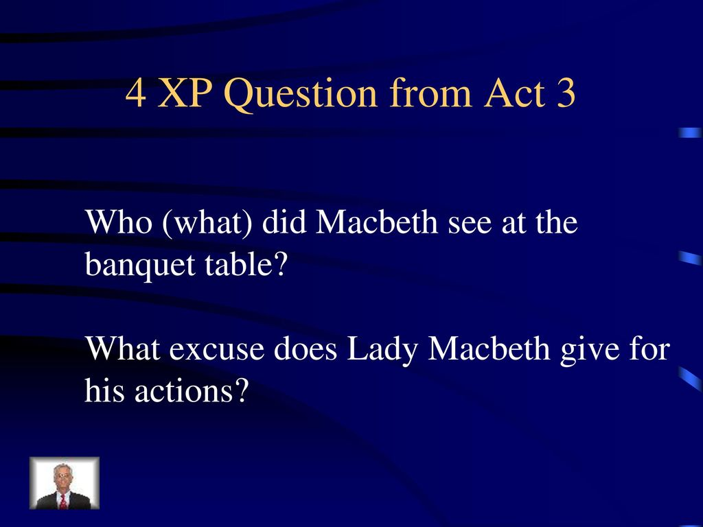 what did macbeth see at the banquet table