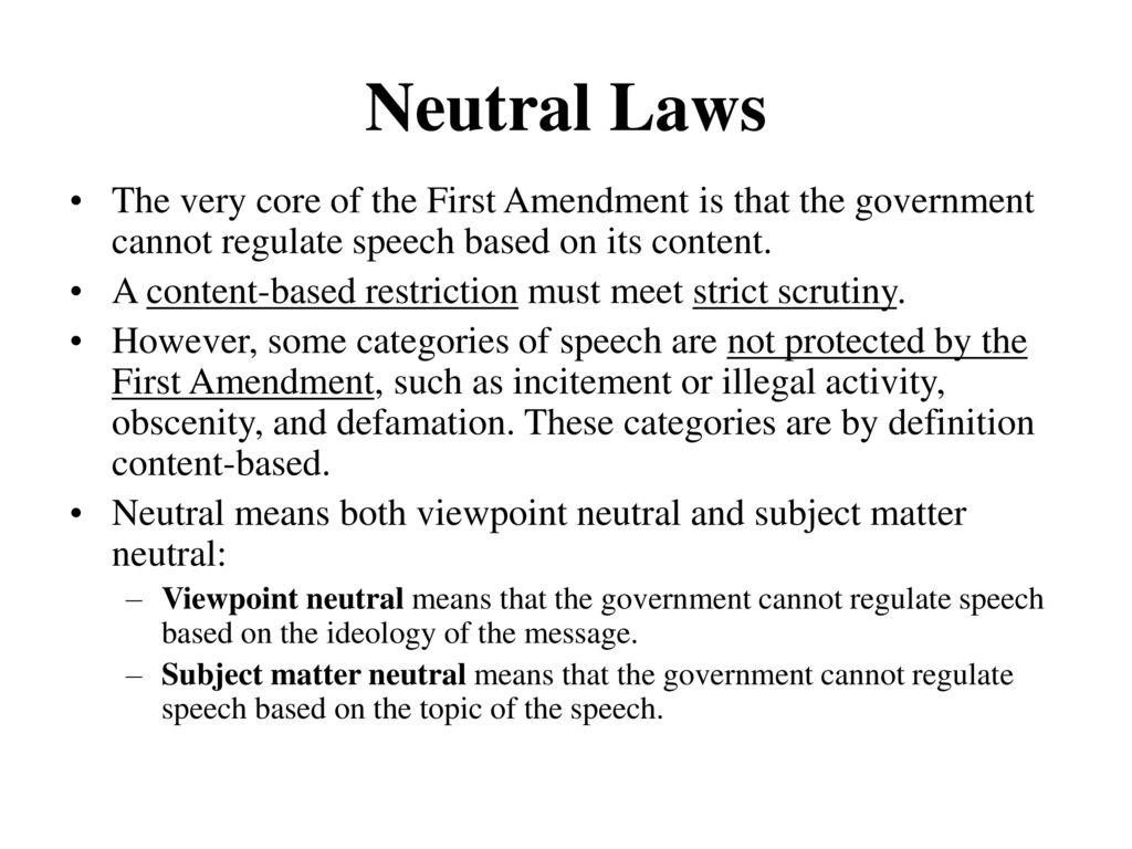 first amendment: expression (i) - ppt download