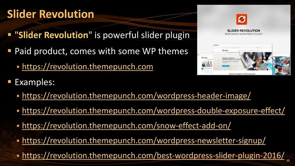 WordPress Plugins Popular WP Plugins: Sliders, Forms