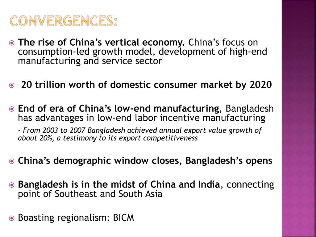 Industrial cooperation between China and Bangladesh - ppt