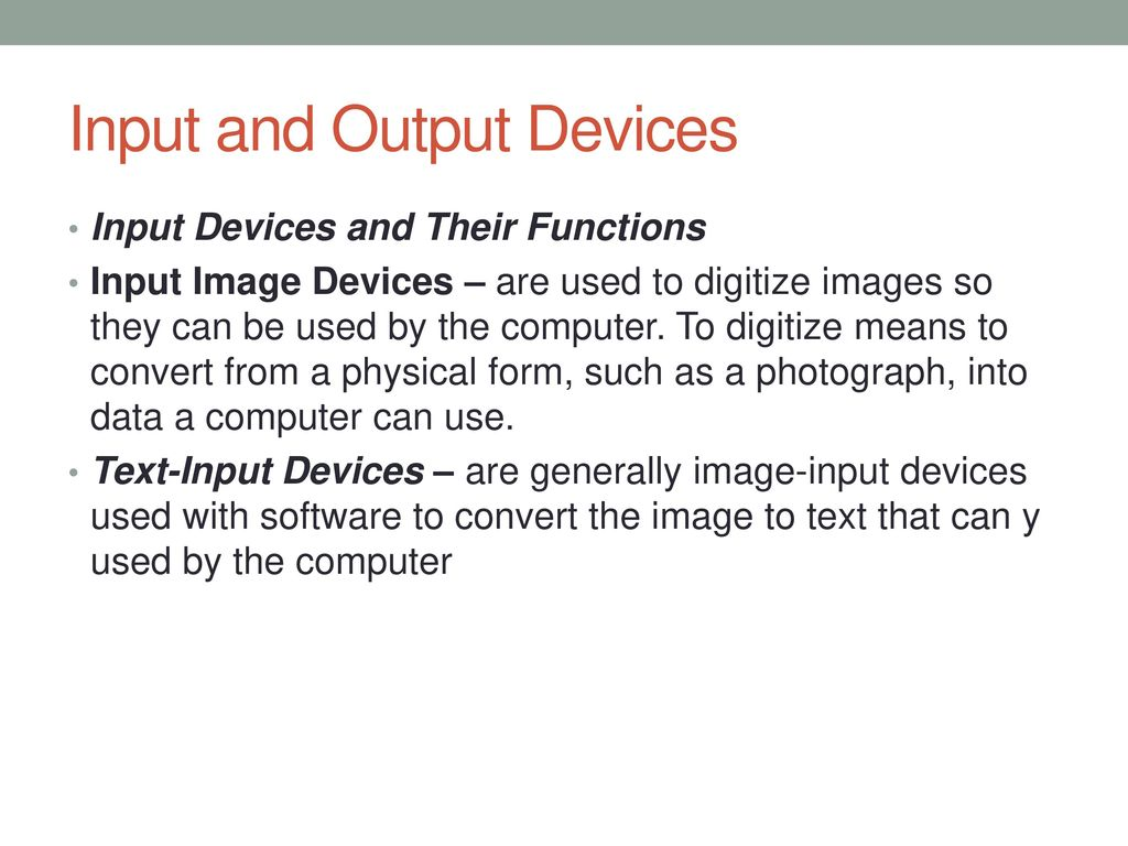 output devices and their functions
