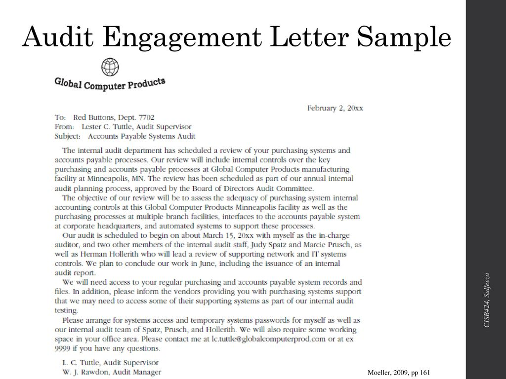 Audit Engagement Letter Sample from slideplayer.com