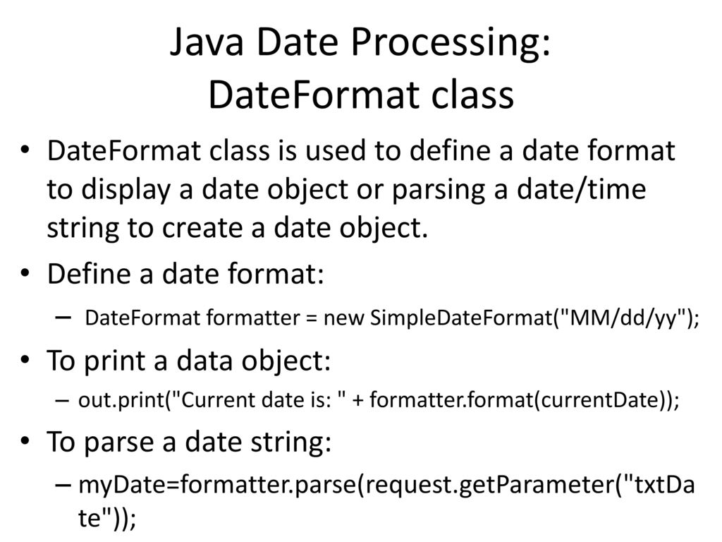 java parse date from string