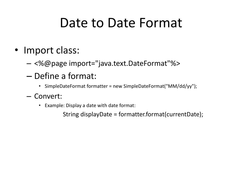 Java String and Date ISYS ppt download