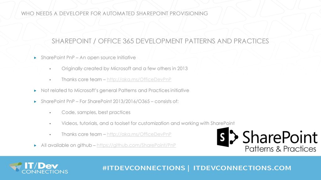 Who Needs a Developer for Automated SharePoint Provisioning
