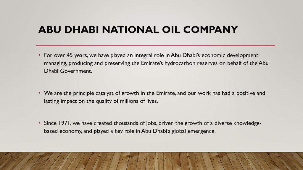 Find list of oil companies in UAE - ppt download