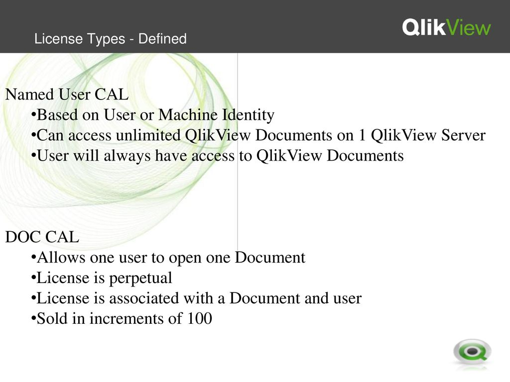 QlikView Licensing  - ppt download