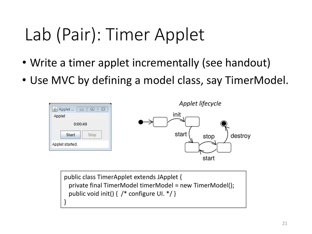 Review: Java GUI Programming - ppt download