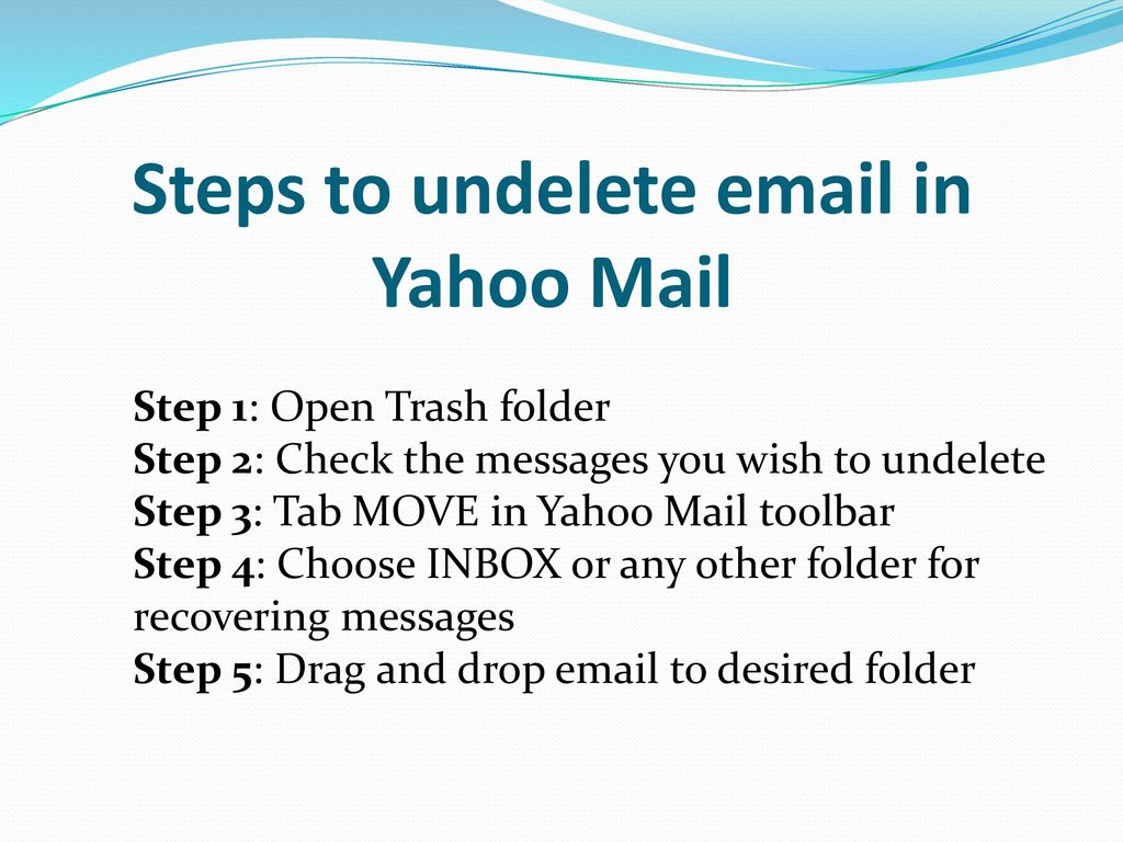 yahoo mail recover deleted folder