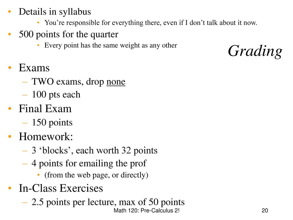 Math 120: Pre-calculus 2 Instructor: Mike Panitz - ppt download