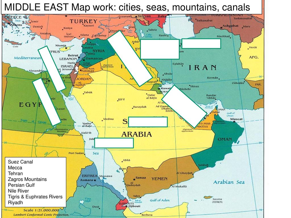 Tehran Middle East Map.Middle East Map Work The Nations Ppt Download