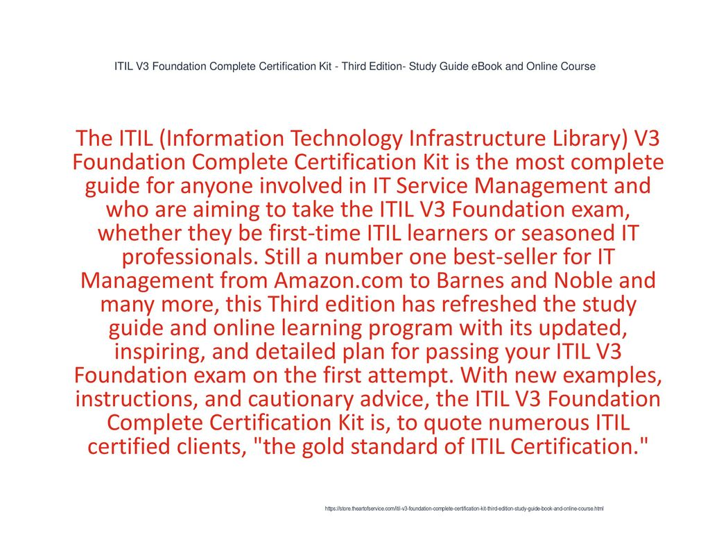 Itil V3 Foundation Complete Certification Kit Third Edition Study