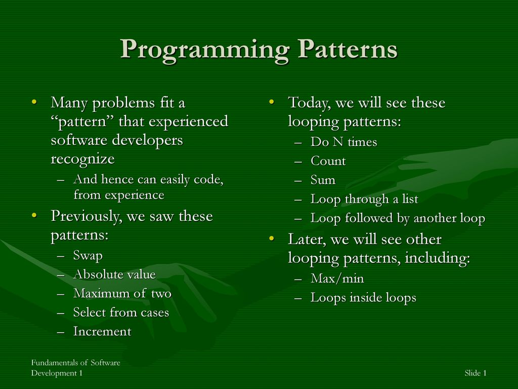 Programming Patterns Custom Decorating Design