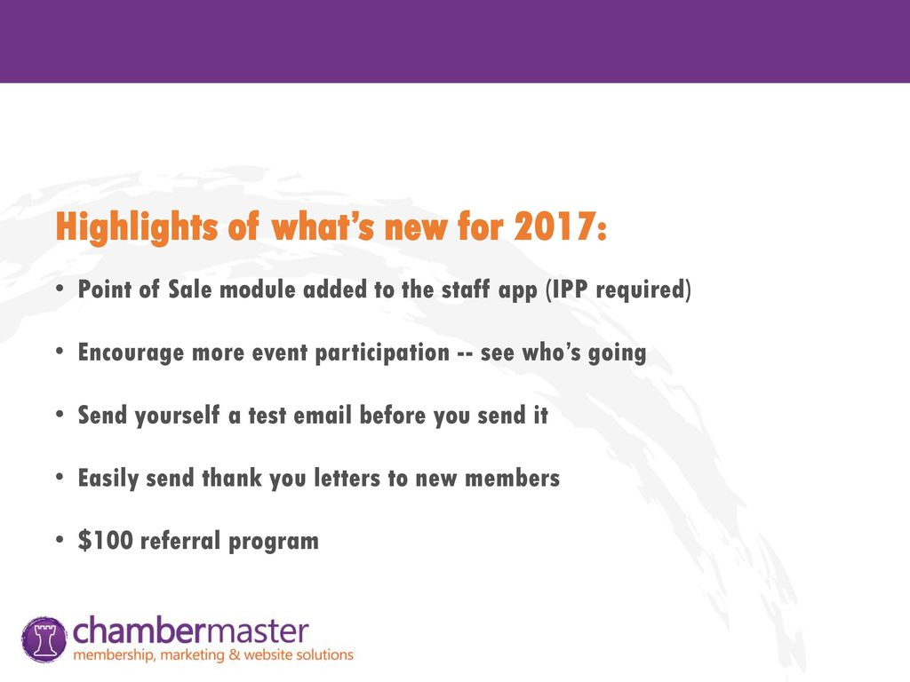 Highlights of what's new for 2017: - ppt download