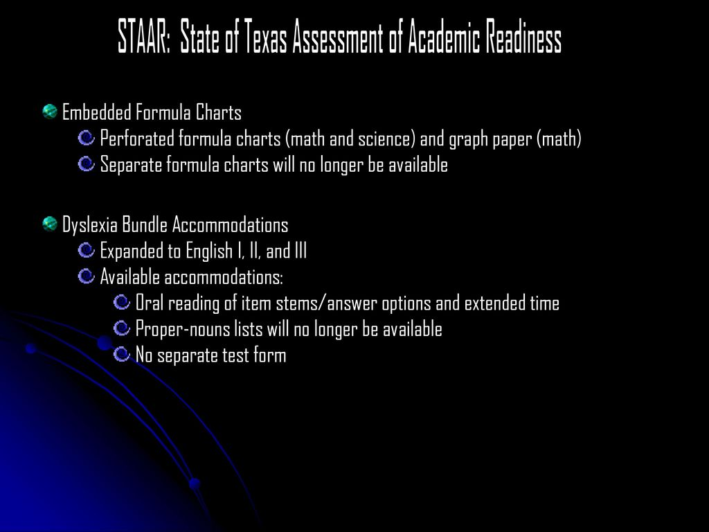 STAAR: State of Texas Assessment of Academic Readiness - ppt